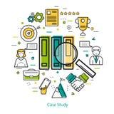 Linha Art Concept - estudo de caso ilustração royalty free