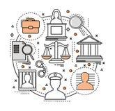 Linha Art Judicial Concept Foto de Stock