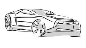 Linha Art Sketch do carro de esportes ilustração royalty free