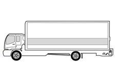 Linha arte - caminhão ilustração royalty free