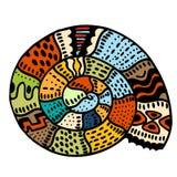 Linha arte da concha do mar ilustração stock
