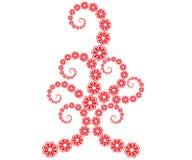 Linha arte da flor ilustração stock