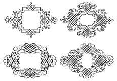 Linha arte de Art Vetora do grampo do ornamento de Calligraphia Fotografia de Stock Royalty Free