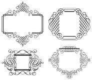 Linha arte de Art Vetora do grampo do ornamento de Calligraphia Fotografia de Stock