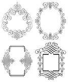 Linha arte de Art Vetora do grampo do ornamento de Calligraphia Imagens de Stock Royalty Free
