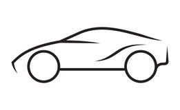Linha arte do carro ilustração stock