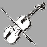Linha arte do violino imagens de stock royalty free