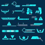 Linha azul da tecnologia moderna Ilustração do Vetor