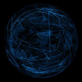 Linha azul do fulgor abstrato do globo Imagens de Stock Royalty Free