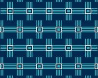 Linha azul quadrados do teste padrão no fundo escuro ilustração royalty free