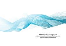 Linha azul vetor da água do fundo da onda Imagens de Stock