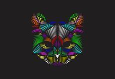 Linha básica Art Cat Illustration Fotos de Stock