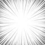 Linha bandas desenhadas da velocidade do pop art do fundo Foto de Stock