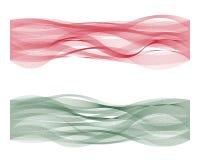 Linha bandeira da onda de Hungria Ilustração do Vetor