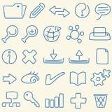 Linha base de dados do ícone (vetor) Imagens de Stock Royalty Free