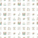 Linha bicolor fundo do projeto para costurar ou Fotografia de Stock