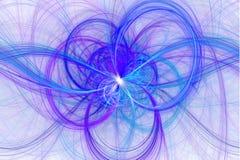 Linha bonita ilustração do sumário do fractal, ilustração stock