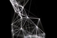 Linha branca do laser no fundo escuro fotografia de stock
