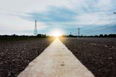 Linha branca estrada Imagem de Stock