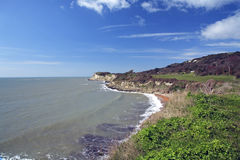 Linha britânica da costa Imagens de Stock