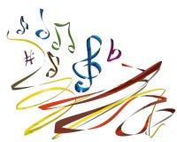 Linha canto da música ilustração royalty free