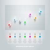 Linha carta Infographic Imagens de Stock Royalty Free