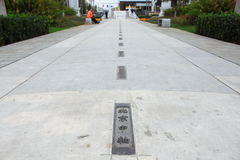 A linha central central do Pequim Fotografia de Stock