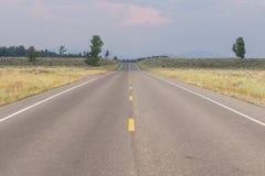 Linha central da estrada Foto de Stock