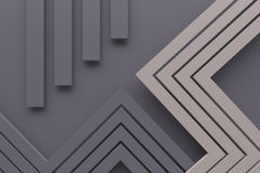 A linha cinzenta retro do fundo do teste padrão da cor do vintage e o ponto 3d arrancam Imagem de Stock Royalty Free