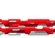 Linha cinzenta vermelha abstrata da tecnologia de circuito do polígono no vetor futurista moderno branco do fundo do projeto de e ilustração royalty free