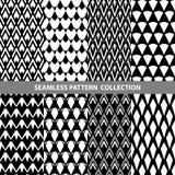 Linha clássica branca preta coleção sem emenda geométrica do projeto do teste padrão do sumário do vetor do ziguezague Foto de Stock
