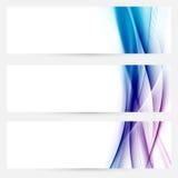 Linha coleção da velocidade do swoosh do cetim dos encabeçamentos da Web Imagem de Stock