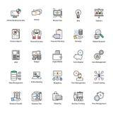 Linha colorida ícone de negócio e de finança Imagens de Stock Royalty Free