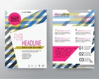 Linha colorida abstrata fundo da forma para o molde da disposição de projeto do inseto do folheto do cartaz no tamanho A4 ilustração stock