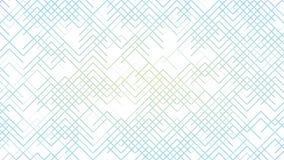 Linha colorida abstrata teste padrão no vídeo de movimento branco do fundo ilustração royalty free