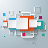 Linha colorida do projeto dos quadrados dos retângulos Fotografia de Stock Royalty Free