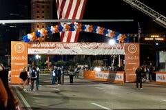 Linha começar da maratona de ING Miami Foto de Stock