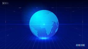 Linha composição do ponto do mapa de Worl que representa o significado internacional da conexão de rede global Foto de Stock