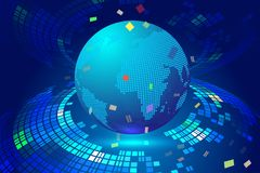 Linha composição do ponto do mapa de Worl que representa o significado internacional da conexão de rede global Foto de Stock Royalty Free