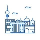 Linha conceito de Berlim do ícone Símbolo liso do vetor de Berlim, sinal, ilustração do esboço ilustração royalty free