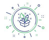 Linha ?cone da faculdade criadora Sinal da ideia do projeto Vetor ilustração stock