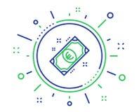 Linha ?cone do dinheiro do Euro Sinal do m?todo do pagamento Vetor ilustração do vetor