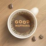 Linha copo de café da arte com feijões Fotografia de Stock Royalty Free