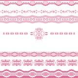 Linha cor-de-rosa abstrata ornamento Fotos de Stock