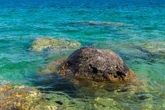 Linha costeira de Bruce Peninsula no parque nacional Ontário o do lago cyprus Fotos de Stock