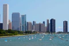 Linha costeira de Chicago Foto de Stock Royalty Free