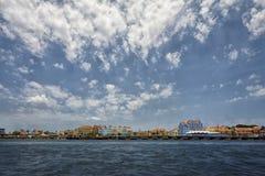 Linha costeira de Curaçau nas ilhas das Caraíbas Fotografia de Stock