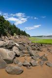 Linha costeira de Fundy Imagem de Stock