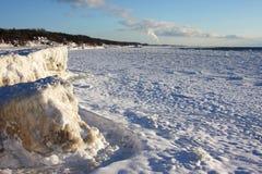 Linha costeira de Michigan de lago Fotos de Stock Royalty Free