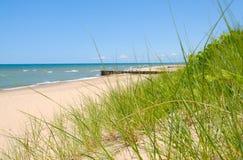 Linha costeira de Michigan de lago Fotografia de Stock Royalty Free